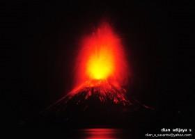 Gunung Anak Krakatau Meletus (2/09/2012)