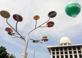 Lampu Hemat Energi Masjid Istiqlal